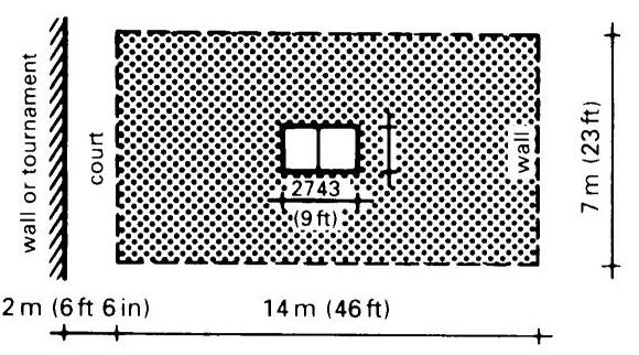 kích thước sân bóng bàn tiêu chuẩn