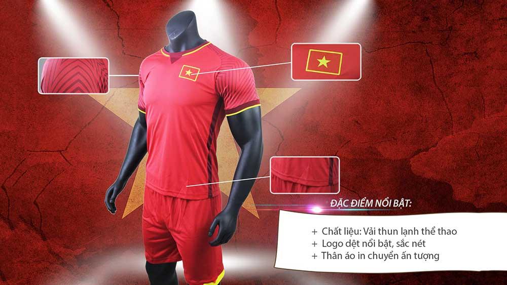 quần áo bóng đá Việt Nam 2018