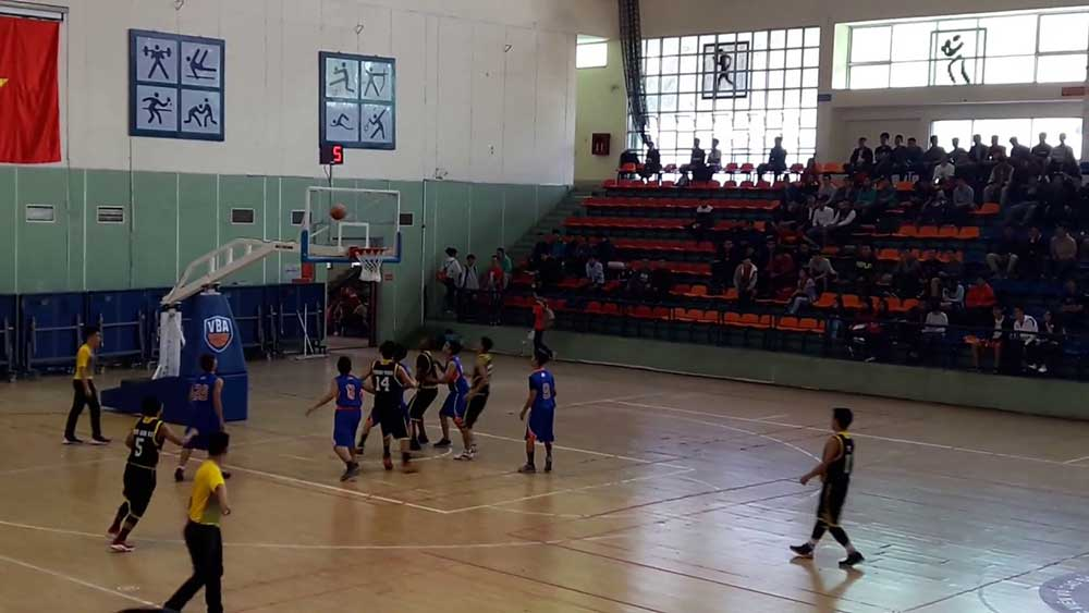kích thước sân bóng rổ chuẩn
