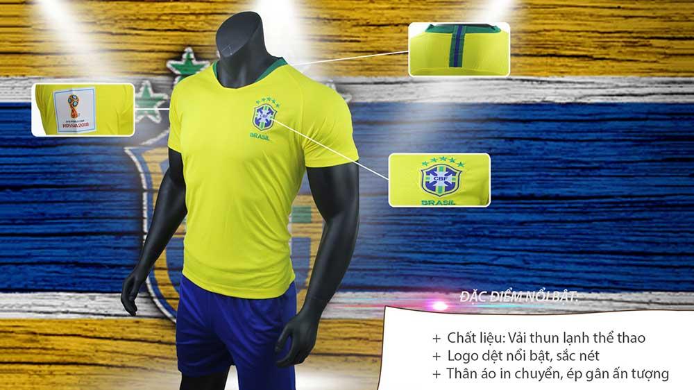 áo đá bóng màu vàng