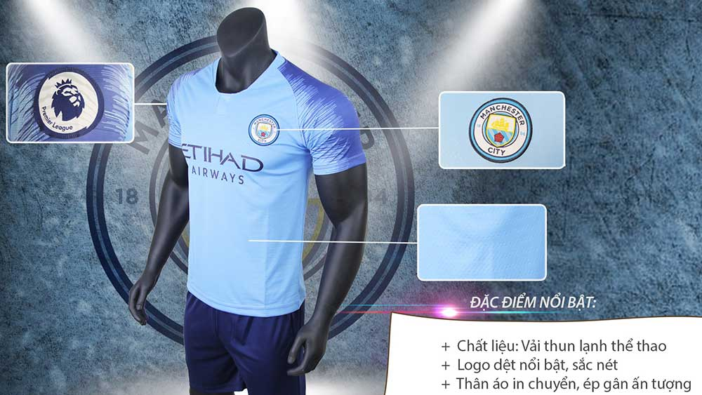giới thiệu áo đấu man city 2019