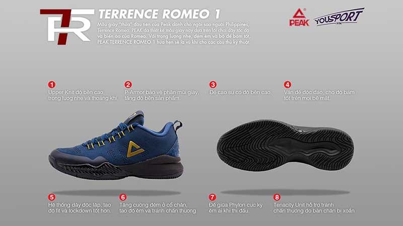 giày bóng rổ Peak Terrence Romeo 1 EW8207A