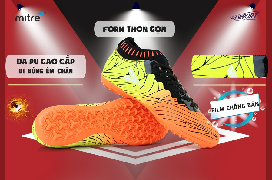 giày bóng đá Mitre 161115 TF